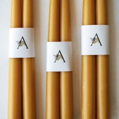 Hand-dipped- Beeswax candles, Pure Beeswax, Anellabees, tapers