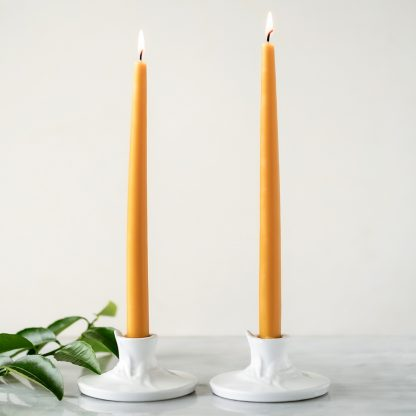 Pure Beeswax Candles, Anellabees, tapers, hand-dipped dinner candles