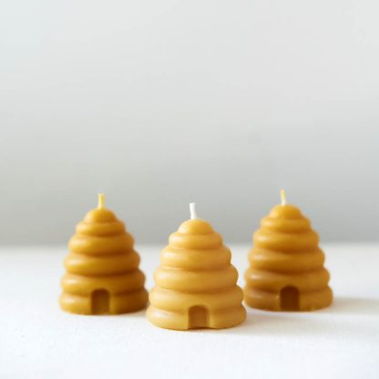 Beehive Candles, Skep Votives, Pure Beeswax, Anellabees, Non-Toxic Candles, Clean Candles, Save the Bees